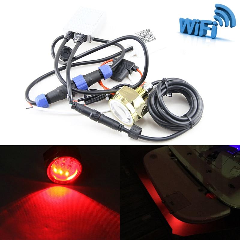 Новый WI FI Дистанционное управление RGB Цвет изменить 27 Вт 9*3 Вт LED Слива подводный IP68 Водонепроницаемый multi Цвет WI FI телефон Управление