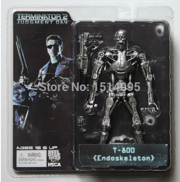 7 18CM NECA Terminator 2 Judgment Day T-800 Endoskeleton PVC Action Figure Robot Toys  Model Toy TT002 free shipping neca the terminator 2 action figure t 800 cyberdyne showdown pvc figure toy 718cm zjz001