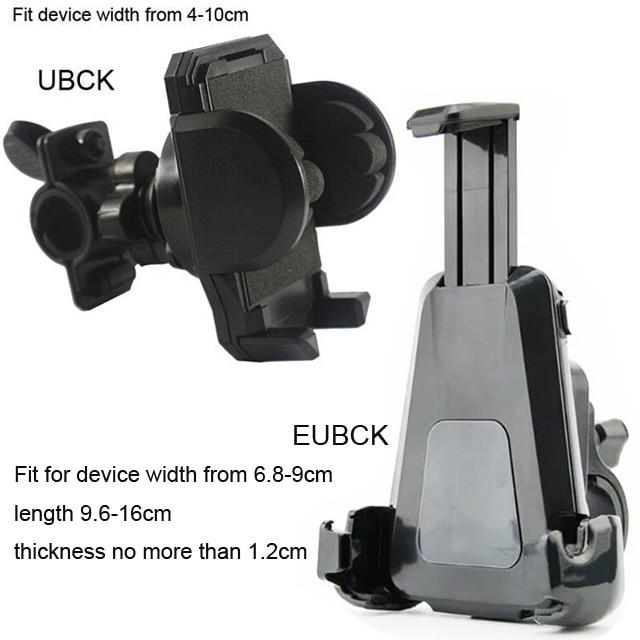 Rotary ajustable soporte para teléfono celular móvil para bicicleta de manillar