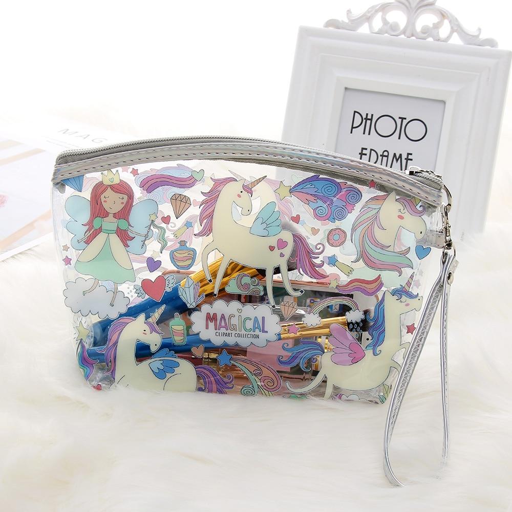 1PC Large Capacity Women Bolsa Cosmetic Transparent Bag PVC Travel Storage Bag Makeup Bag Waterproof Toiletry Bag Alpaca Purse алиэкспресс сумка прозрачная