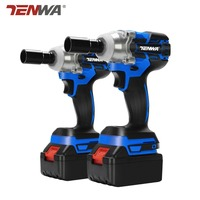 TENWA Brushless Cordless Electric Wrench Impact Socket Wrench 20V 4000mAh Li Battery Hand Drill Installation Power Tools