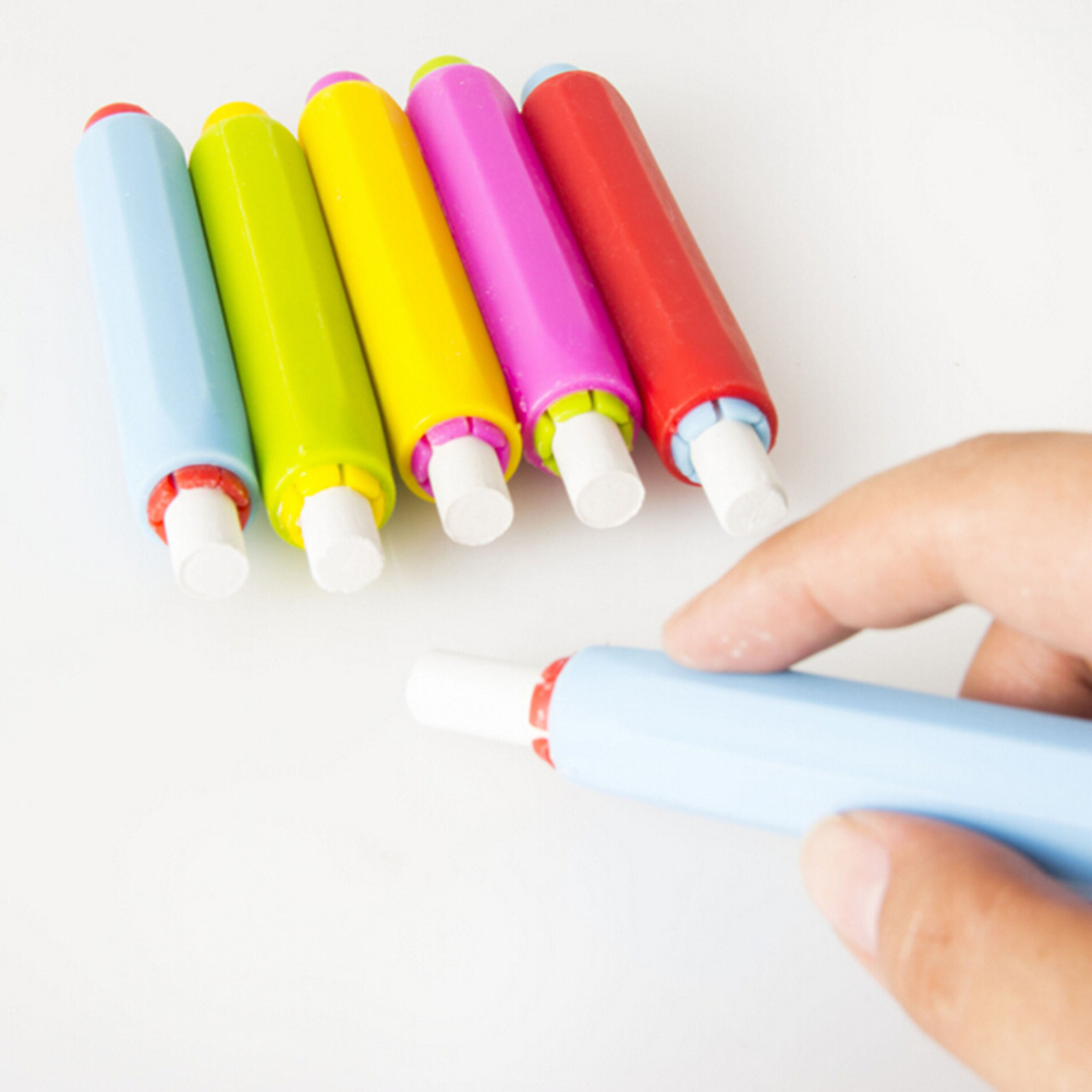 Dustless Chalk Holders Holder Pen Porta Tiza Clip Non Dust Clean Teaching On Chalkboard Wall Sticker School Supplies 2pcs In From Office