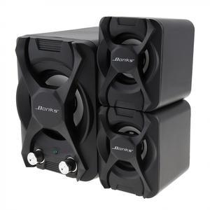 Image 4 - Bonks K2 altavoces Subwoofer con ajuste de bajos vigorosos y perilla de Control de volumen de frecuencia completa, color negro