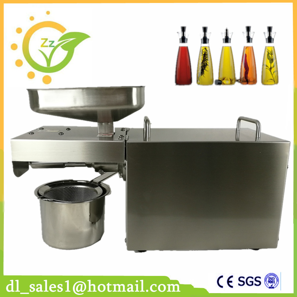 Automatic Oil Press Machine Nuts Seeds Oil Pressure Pressing Machine All Stainless Steel High Oil Extraction