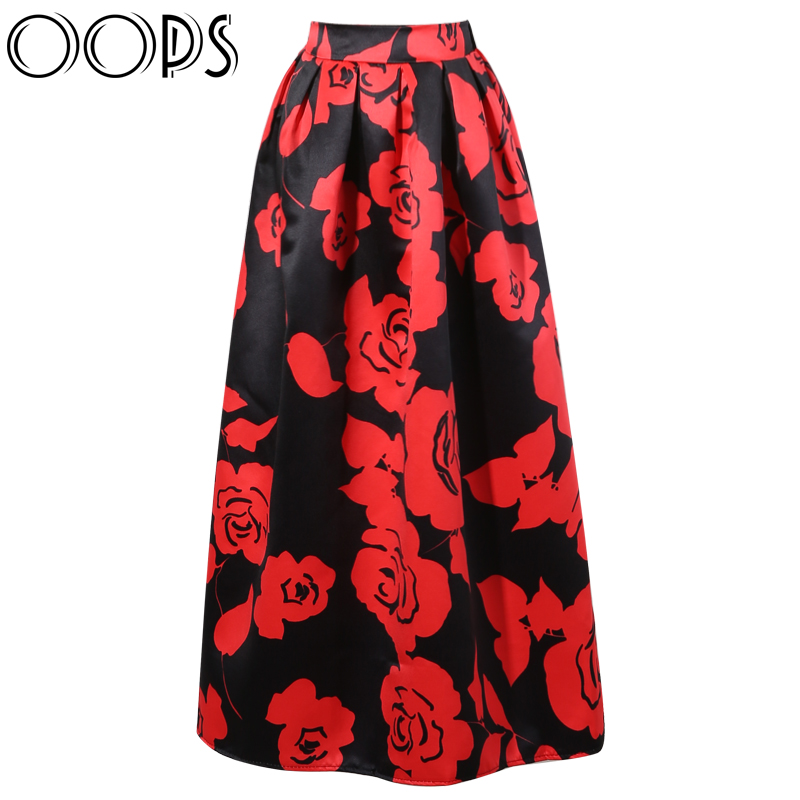 Aliexpress.com : Buy OOPS 2016 New Design Women Maxi Skirts Floral ...
