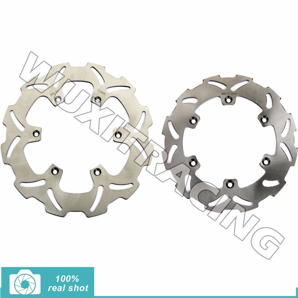 Full Set New Silver New Front Rear Brake Discs Rotors for SUZUKI RM 125 250 1988-1999 90 91 92 RMX 250 S 89-99 DRZ 400 E S 00-12 full set front rear brake discs rotors for honda nx dominator 650 88 89 90 91 92 1988 1989 1990 1991 1992 xr l 650 93 12