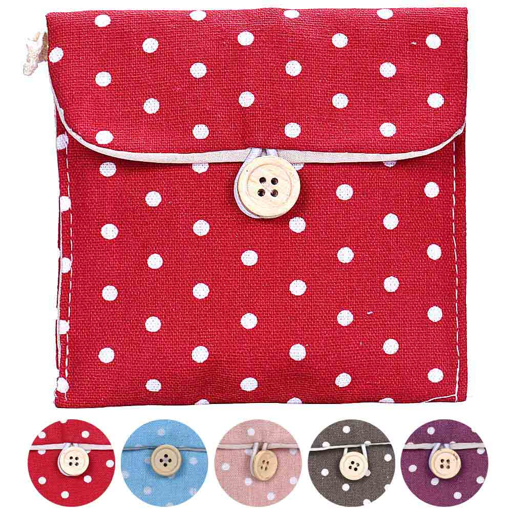 2017 New Casual Candy Color Bags for Girl Cotton Diaper Sanitary Napkin Package Bag Storage Organizer Makeus Bag Free Shipping