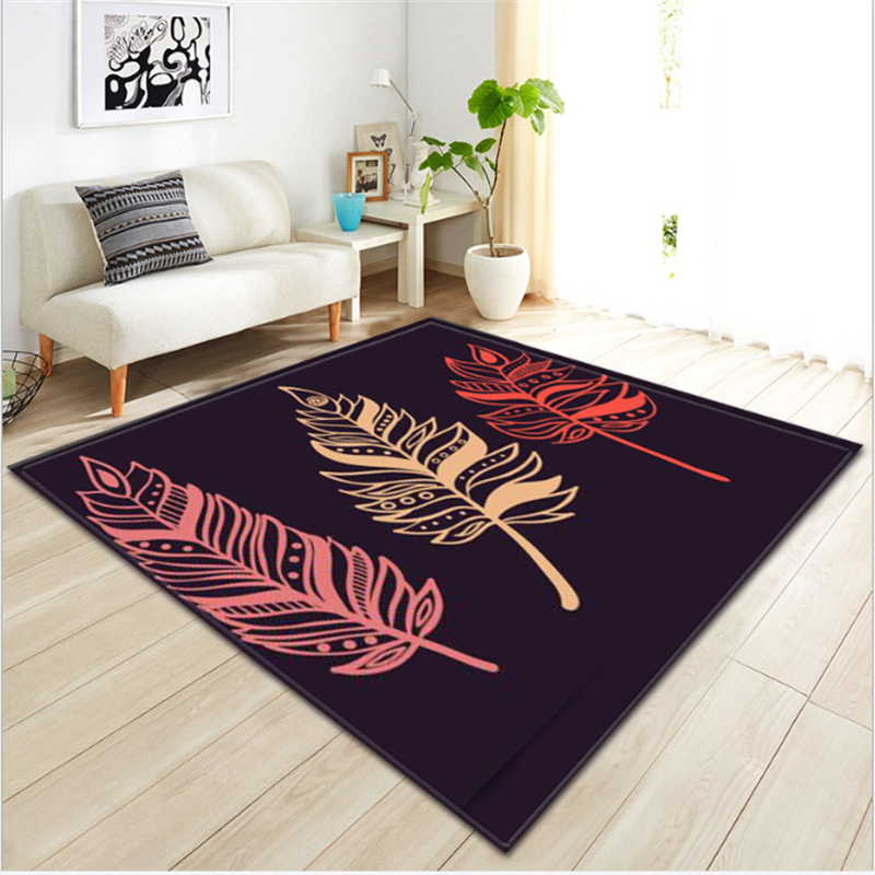 AOVOLL 2019 Feather Ethnic Style Modern Carpet Carpets For Living Room Bedroom Rugs Carpet Kids Room Floor Mats Mechanical Wash
