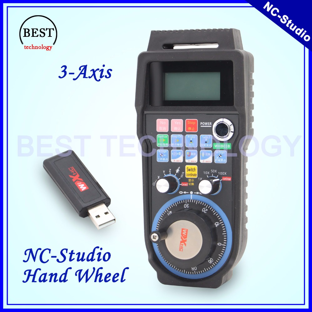 Free shipping New Arrival NC Studio wireless hand wheel 40eter transmission distance handwheel 3 axis Nc