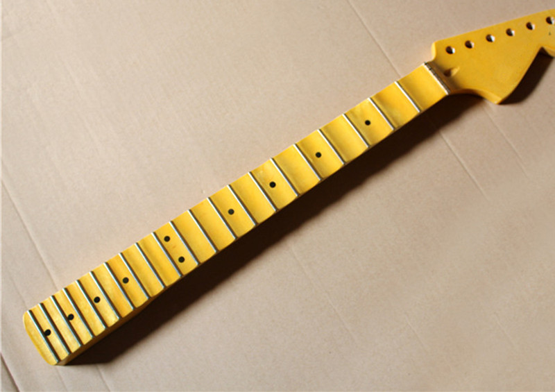 factory wholesale 21 frets maple electric guitar neck with yellow color big headstock scalloped. Black Bedroom Furniture Sets. Home Design Ideas