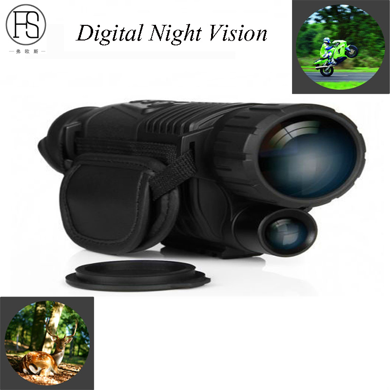 Tactical Monocular Infrared Digital Night Vision Goggles 5X40 Night Vision Scope Takes Photos Video Hunting 200m Telescope цена