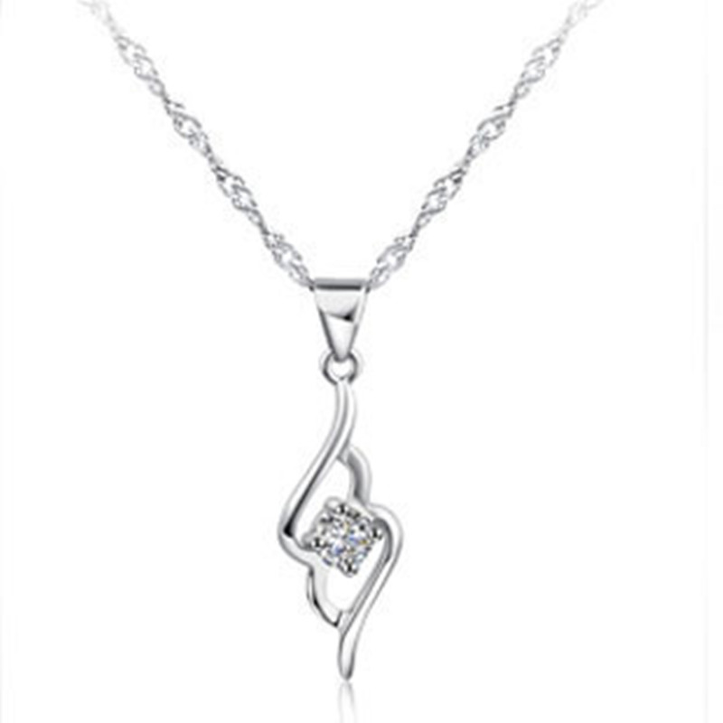 (4pcs/lot) AAA 100% 925 Sterling Silver Necklaces Angel