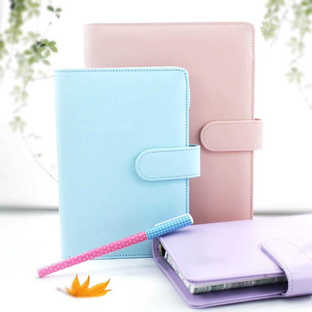 A5 A6 PU leather Cute Notebook Spiral Time Planner Book Diary Filofax Planner Agenda Organizer Business Card Holder Sent from RU