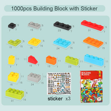 DOLLRYGA Big Bricks 1000pcs Parts With Sticker  jouet enfant Kids Craft DIY Bulk Animal Building Blocks Boxed Toys Mixed Colors