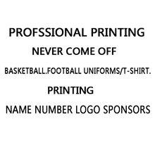 Настраиваемые ссылки на пустые баскетбольные наборы футбольной формы и мужские футболки, профессиональные печатные номера, имя, логотип, спонсор