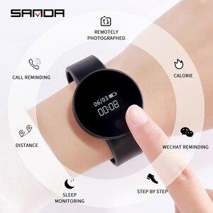 Image 4 - SANDA SD3 موضة عادية النساء/الرجال الذكية تذكير النوم رصد ساعة اليد شاشة OLED تعمل باللمس عداد الخطى الرياضة فستان ساعة رقمية