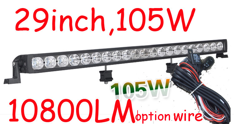 Free DHL/UPS/FEDEX ship!  29 105W,10800LM,10~30V,6500K,LED working bar;led offroad bar,Option wire harness,SUV,LED bar light брелок 500 dhl ups