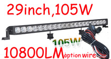 Free DHL/UPS/FEDEX ship!  29″ 105W,10800LM,10~30V,6500K,LED working bar;led offroad bar,Option wire harness,SUV,LED bar light