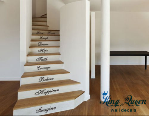 10 words wall quotes art vinyl stickers home decor wall stickers stairs art decoracion