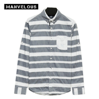 Manvelous Smart Casual Shirt Mens 2017 Summer Fall Long Sleeve Lapel Single Breasted 100 Cotton Color