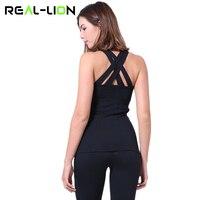 Reallion Kolsuz Yoga Kırpma Üst Kadınlar Backless Yoga Gömlek Kadınlar Yoga Koşu Spor T Gömlek Spor Salonu Tank Top Tops yeni