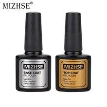 MIZHSE 10 мл 2 шт./лот верхнее покрытие Базовое покрытие основа для УФ-гель для ногтей верхнее покрытие без липкого слоя эмаль Unhas De гель