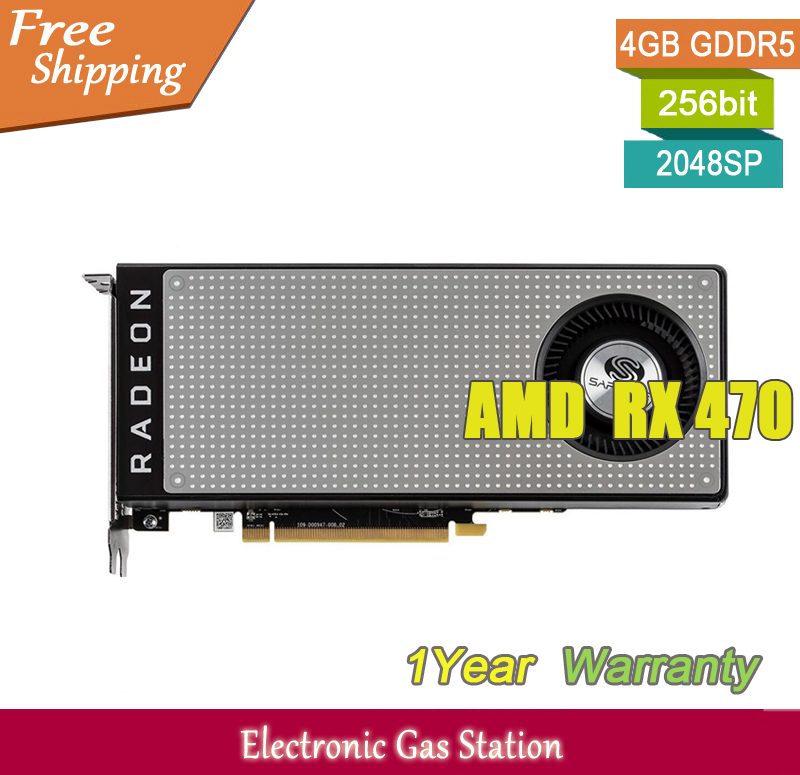 US $279 0  Original Desktop Graphics Card AMD RX 470 14nm 4GB GDDR5 256bit  2048SP DirectX 12 PCI E 3 0 HDMI DisplayPort-in Graphics Cards from