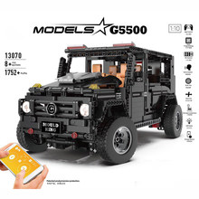 LEGOing Technic Car BRABUS G5500 SUV APP RC Voice Control Led Four wheel drive Building Blocks Gift Compatible Legoings Technic(China)