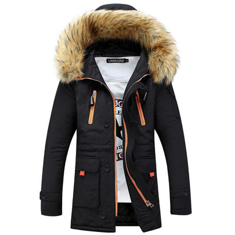 brand new winter men thickening casual warm fur hooded. Black Bedroom Furniture Sets. Home Design Ideas
