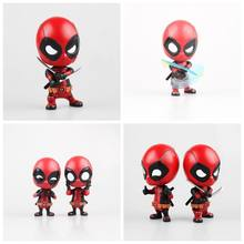 9-10CM Anime figure the avanger Q version dealpool action figure collectible model toys for boys(China)