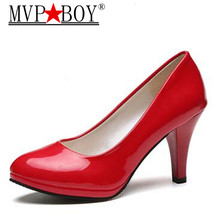 MVP BOY Women Classics Sexy High Heels Platform Pumps Wedding Shoes High Heels Slip-on Party Woman Shoes plus eu size 34-42 цены онлайн