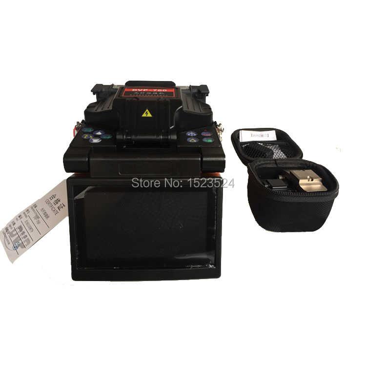 Máquina de empalme DVP-760 Multi-idioma, empalmador de fibra óptica, empalmador de fusión