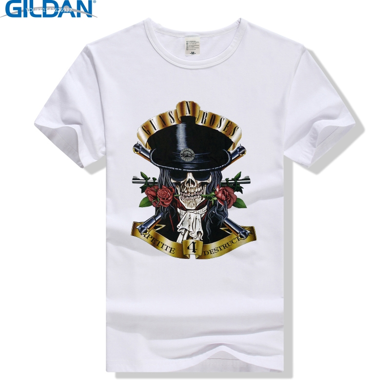 GILDAN Guns n Roses T Shirt Slash Appetite for Destruction Tee Rock Band Men Women T-Shirt Clothing Skull Tshirt Guns and Roses