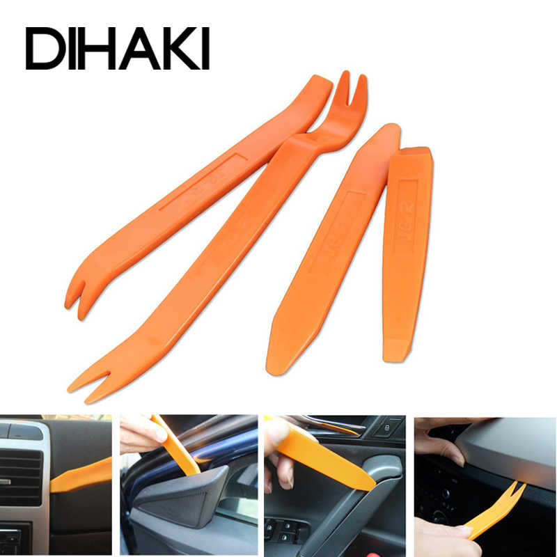 4 stks/set Interieur Tool Kit Pry Deur Clip Radio Panel Auto Removal Tool Plastic Trim Audio Dashboard Demontage araba Reparatie tool