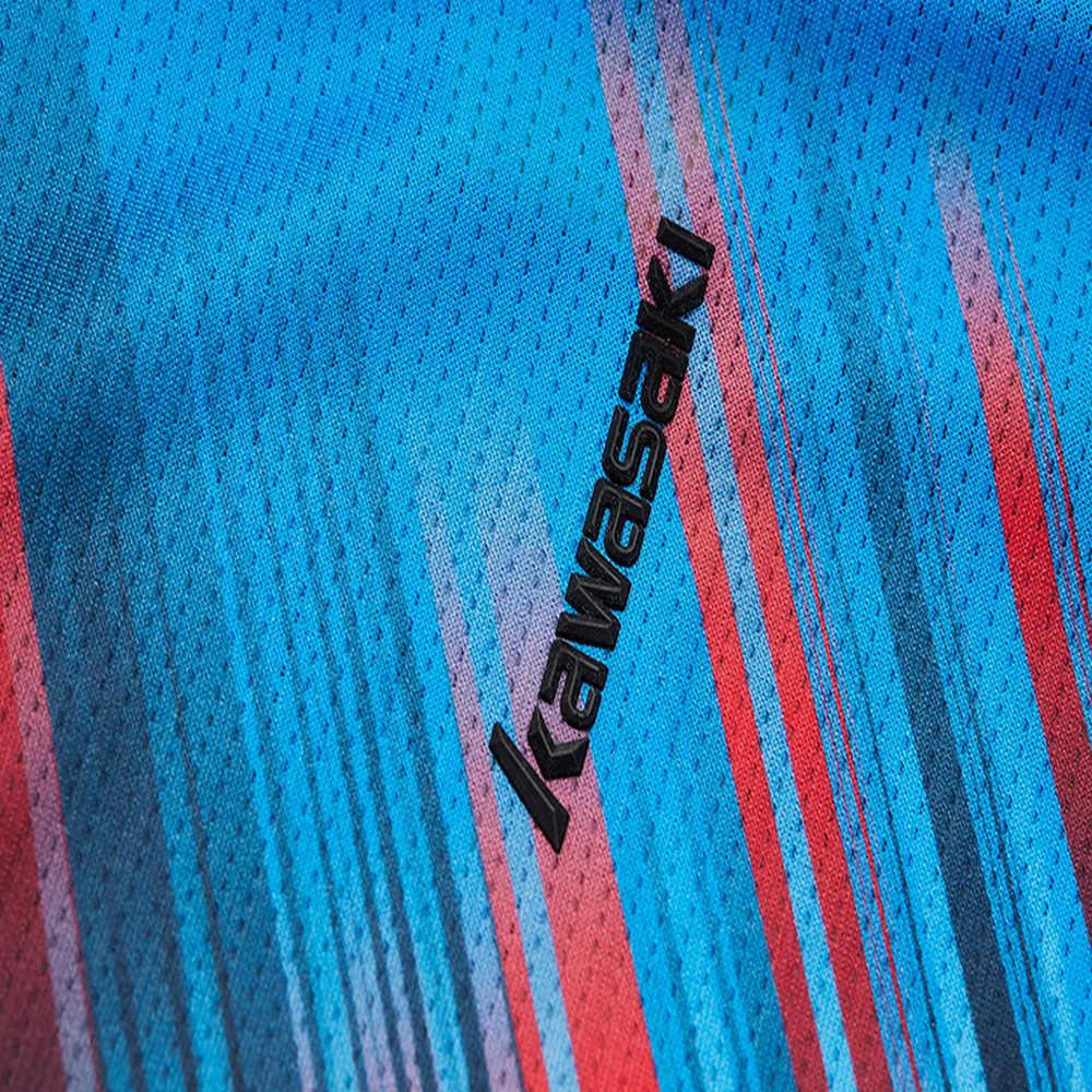 2019 Kawasaki бадминтон Футболка Мужская теннисная рубашка быстросохнущие с коротким рукавом тренировочные воздухопроницаемые рубашки для мужчин ST-S1128