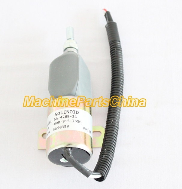 ФОТО Fuel Stop Solenoid SA-4269 24V 600-815-7550 shut off solenoid