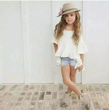 1pcs Kids Baby Girls pretty elegant Princess White Outfits Top Dress Clothes