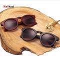 RoShari Madeira de Bambu Do Vintage Unissex Óculos De Sol Das Mulheres Marca Designer retro mulheres Do Esporte óculos de sol dos homens UV400 gafas oculos de sol