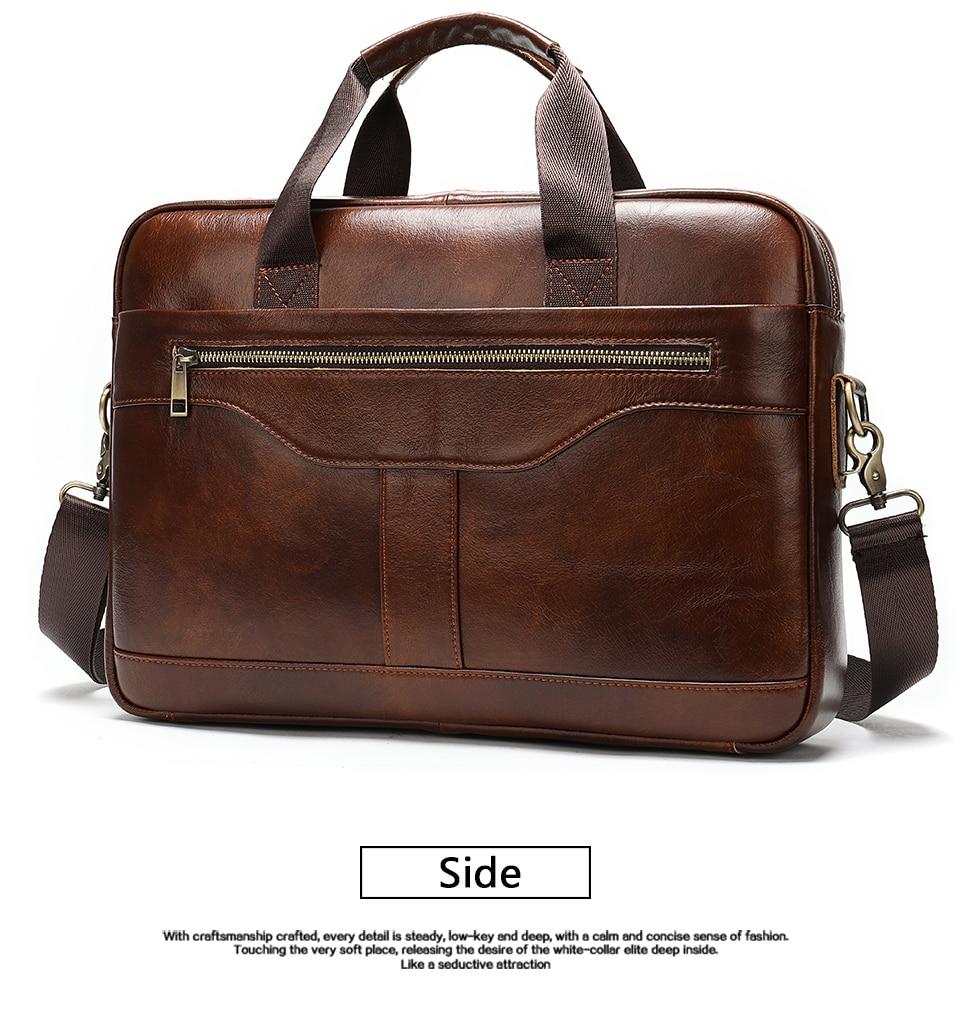 8 Bag Men's Genuine Leather Briefcase Male Handbags Lawyer Man Laptop Bag Leather for Men Messenger Bags Men's Briefcases