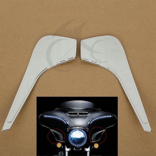 Коробка АБС хром Перчаточный акценты отделки для Honda GL1800 GL1800A GL1800P Голд Винг Премиум Аудио 2001-2010