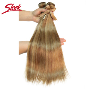 Image 4 - Sleek Remy P8/22 P27/613 P6/22 Bundles Peruvian Hair Weave 10 24 Inches Straight Human Hair Extension Blonde Hair Weave Bundle
