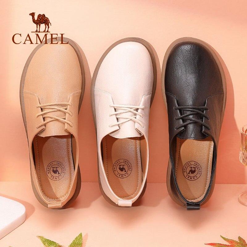 Oxford Chaussures Yasilaiya 2019 Pompes Nouveau De Décontracté Britannique Femmes Rice Style Rétro Dames apricot Femme noir Simples Doux Bas Cuir Véritable qpn7xFTE
