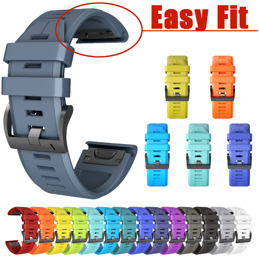 Watchband Silicone Quick Release Easy Fit Wirstband Replacement For Garmin Fenix 5X 26mm watch band relogio wristwatch Strap