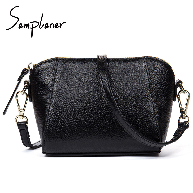 Samplaner Fashion Wome Shell Bags 2017 PU Leather Ladies Messenger Crossbody Bag Zipper Clutch Female Shoulder Bags bolso mujer
