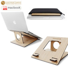 2016 новый деревянный Портативный Вертикальный Tablet PC стенд для MacBook air & pro 11.6 13.3 15.4 дюймов для asus/sony ноутбук 15 «аксессуары