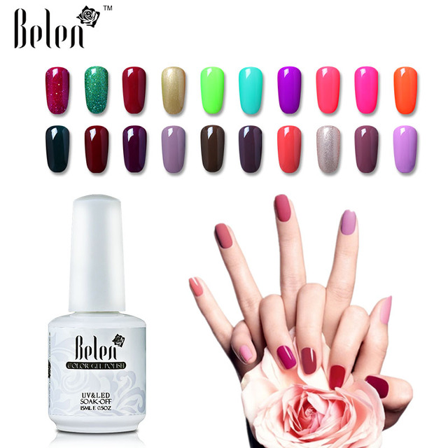 Belen Uv Gel Nail Polish Set Pink White Color Coat Free Tip Guides French