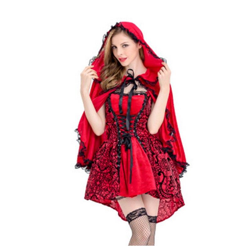Costume d'halloween adulte gothique petit chaperon rouge vocaloïde Cosplay Costume scène robe Cape Fantasia jeu uniforme 2019