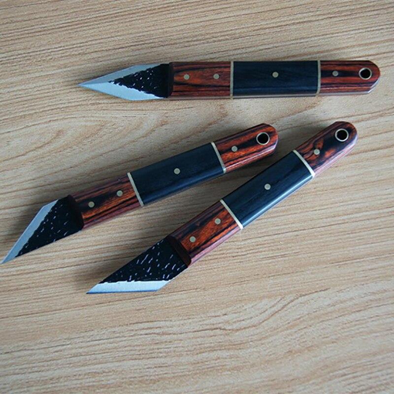 3 pièces/ensemble collection qualité boutique fringant couteau travail du bois cadeau étain emballage nouvelle vente limitée