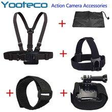 Kit acessórios gopro chest harness cabeça wi-fi strap mount para gopro hero 4 3 3 + 2 sj4000 sjcam sj5000 m10 xiaomi yi eken h9 H9R