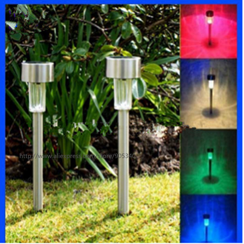 Outdoor Solar Power lawn lamps Waterproof Color Changing Multicolor LED  Spot Light Garden Path Stainles Steel - Popular Outdoor Color Lights-Buy Cheap Outdoor Color Lights Lots